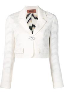 Missoni Blazer Cropped - Branco