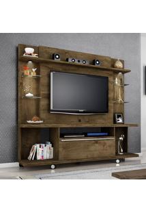 Painel Tv Home 1,8M Largura C/ 2 Luz Led Incluso Cor Rustico