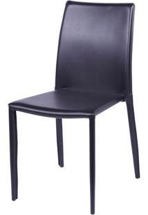 Cadeira Bali Estofada Couro Ecologico Marrom - 16376 - Sun House