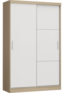 Modulo Com 2 Portas E 2 Gavetas Infinity 3825A-Castro Móveis - Nogueira / Branco