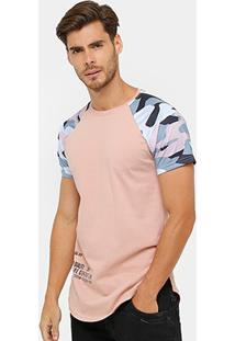 Camiseta Local Raglan Camuflado Masculina - Masculino