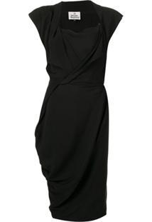Vivienne Westwood Vestido Reto Midi - Preto