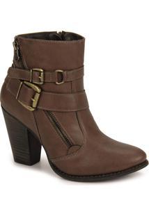 Ankle Boots Feminina Lara - Marrom