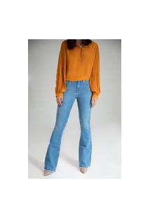 Calça Jeans Microflare - Lisboa - Santé Denim
