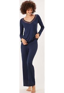 Pijama Joge Longo Azul Marinho