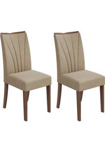 Conjunto Com 2 Cadeiras Apogeu Imbuia E Creme