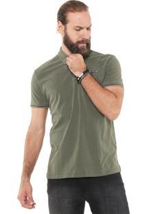 Camisa Polo Ellus Militar Patch Verde
