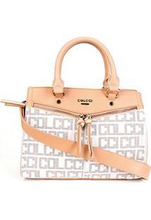 Bolsa Colcci Tote Shopper Pvc Monograma Feminina - Feminino-Off White