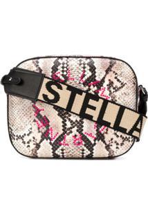 Stella Mccartney Bolsa Estruturada Stella Com Efeito De Pele De Cobra - Neutro