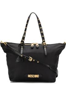 Moschino Logo Tote Bag - Preto