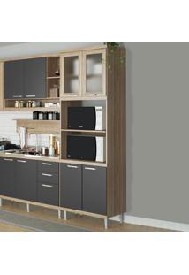 Armário De Cozinha Para Forno 4 Portas 5120132 Premium Argila/Grafite - Multimóveis