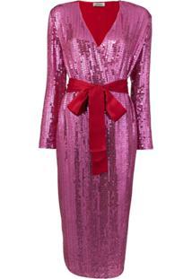 The Attico Vestido Com Paetês - Rosa