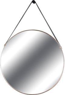 Espelho Redis Moldura Banhada Cor Rose 75 Cm (Larg) - 43553 - Sun House
