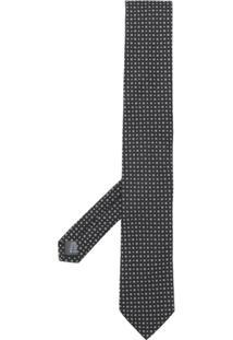 Dolce & Gabbana Gravata De Seda Com Padronagem - Preto