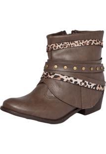 Bota Foot Way Folk Marrom