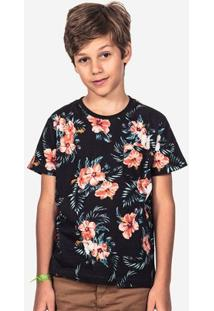 Camiseta Hermoso Compadre Estampada Niños Masculina - Masculino-Azul