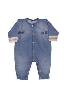 Macacão Longo Plush To Dream Jeans Sonho Mágico P Azul