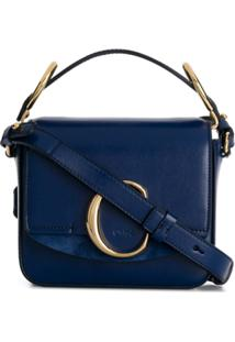 Chloé C Mini Shoulder Bag - Azul