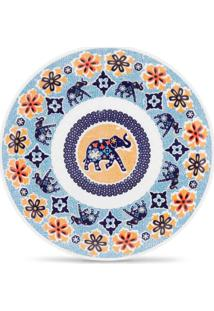 Conjunto 6Pçs Pratos De Sobremesa Oxford Mail Order Coup Shanti Branco/Laranja/Azul