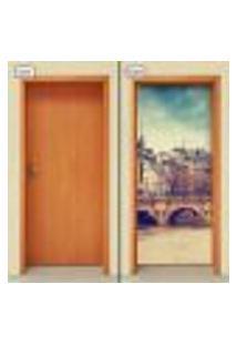 Adesivo Decorativo De Porta - Cidade - 1028Cnpt