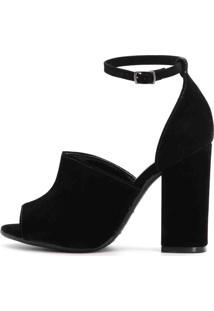 Sandália Royalz Ankle Boot Nobuck Sophie Preta