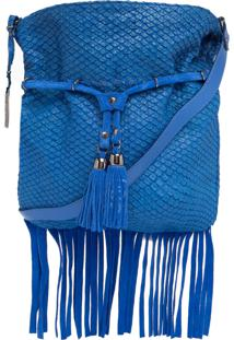 Bolsa Luiza Barcelos Tressê Tassel Azul