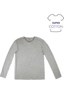 Camiseta Masculina Básica Em Algodão Super Cotton