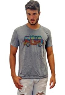 Camiseta Estonada Kombi Color - Masculino