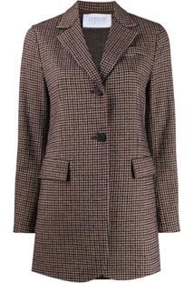 Harris Wharf London Jaqueta De Tweed Com Abotoamento Simples - Neutro
