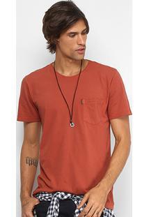 Camiseta Redley Bolso Frontal Masculina - Masculino-Vermelho Claro