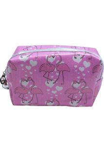 Necessaire Minas De Presentes Flamingos Rosa