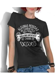 Camiseta Criativa Urbana Frases Vovó - Feminino