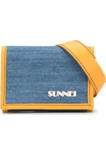 Sunnei Carteira Com Estampa De Logo - Azul