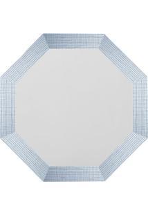 Espelho Oitavado- Branco- 40X40Cm- Art Frameart Frame