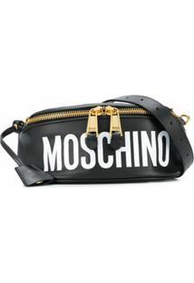 Moschino Pochete Com Estampa De Logo - Preto