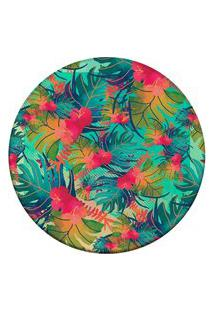Tapete Love Decor Redondo Wevans Tropical Multicolorido 94Cm