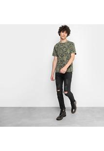 Camiseta Drezzup Camuflada Estonada Masculina - Masculino