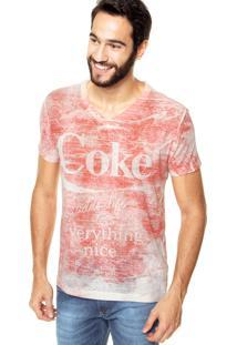 Camiseta Coca-Cola Jeans Reta Vermelha
