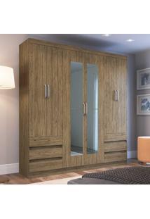 Guarda-Roupa Casal 6 Portas 6 Gavetas Safira Rp5066E Wood - Decibal Móveis