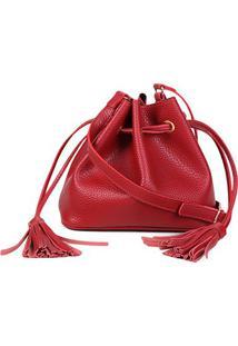 Bolsa Shoestock Bucket Lisa Feminina - Feminino-Vermelho