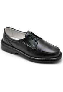 Sapato Conforto Couro Ranster Masculino - Masculino-Preto