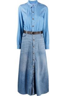 Jacob Cohen Vestido Jeans Angie Bicolor - Azul