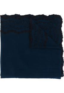 Faliero Sarti Echarpe Com Bordado - Azul