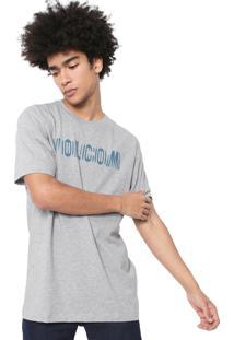 Camiseta Volcom Silk Frequency Cinza