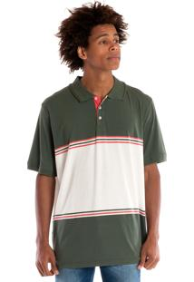 Camisa Polo Konciny Manga Curta Musgo