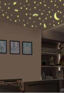 Adesivo Decorativo De Teto Stixx Estrelas - Brilha No Escuro Amarelo