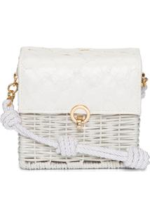 Bolsa De Junco Pirarucu - Off White