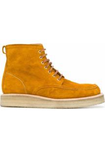 Ami Ankle Boot Bico Quadrado De Camurça - Neutro