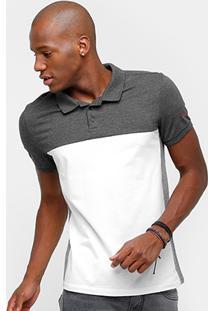 Camisa Polo Calvin Klein Piquet Bicolor Masculina - Masculino