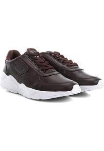 Tênis Couro Cavalera Chunky Sneaker Jean Masculino - Masculino-Café